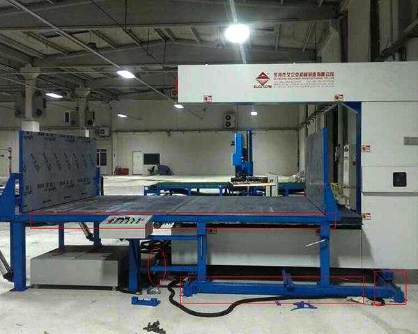 Full Automatic Vertical Cutting Foam Sponge Machine