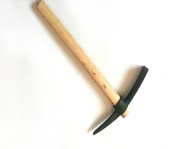 Green Garden Steel Pick Mattock With Wooden Handle